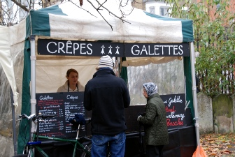 Julie's crepes at the Oval Farmers' Market