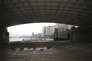 Under Vauxhall bridge