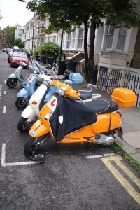 Scooters in Offley Road