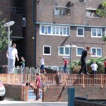Parkour practise in local playground
