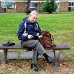 Passer by enjoys Claylands Green bench