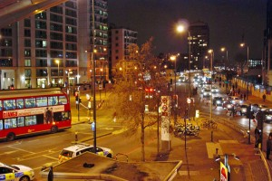 Vauxhall at night time
